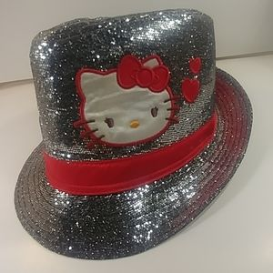 Hello Kitty Shinning Silver Kids Top Hat Grey😍